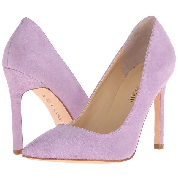 Ivanka Trump Carra (Rich Spring Lilac) High Heels (£93) ❤ liked on Polyvore featuring shoes, pumps, heels, ivanka trump footwear, slip-on shoes, slip on pumps, high heel shoes and ivanka trump pumps