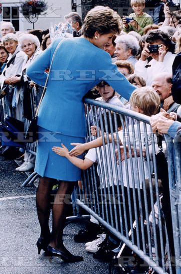 july 28 1993 princess diana visiting bury st edmunds suffolk