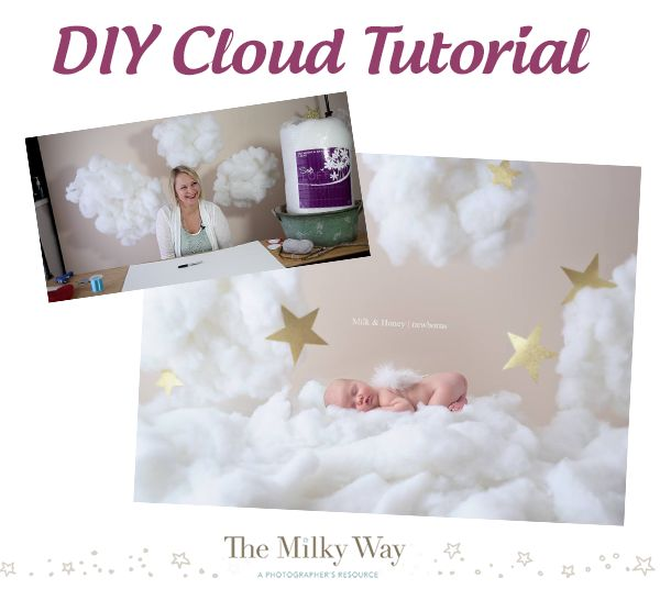 DIY Cloud Tutorial for newborn photo sessions, or children's photo sessions