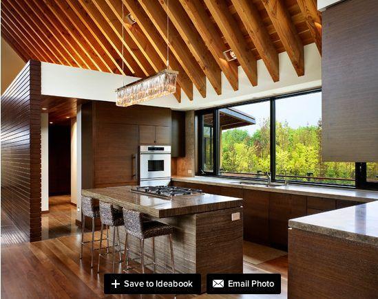 indoor outdoor kitchen designs | Bright open kitchen design