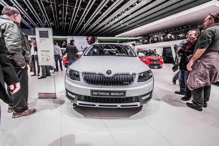 Another unique detail is the Scout badge on the grille and tailgate  ---> http://www.skoda-auto.com/en/models/octavia-scout/  #octaviascout  #octavia #skoda #genevamotorshow