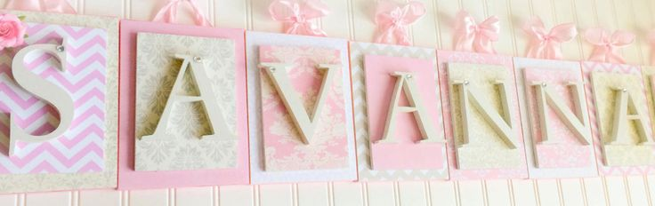 Nursery letters custom initials personalized by LoveyLettersbyLeah