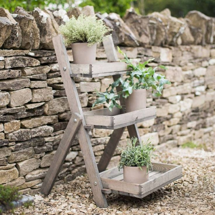 Wooden Plant Pot Stand. Transform your garden room, conservatory, patio or terrace with our charming Pot Ladder.