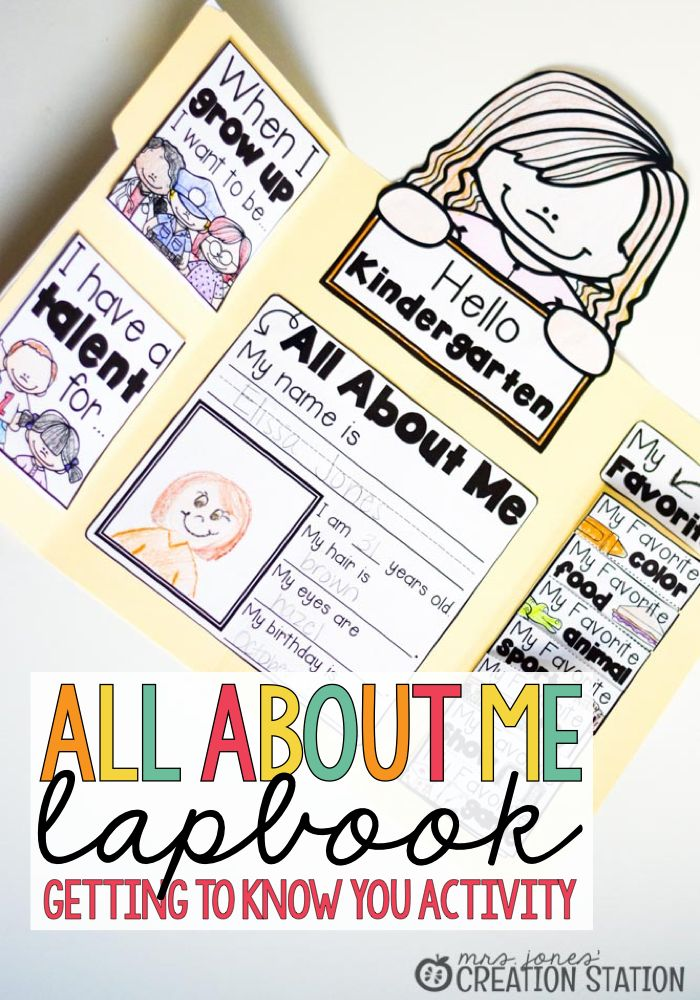 All About Me Lapbook Activity MJCS.001