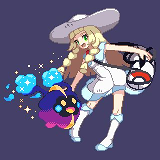 Lillie and Cosmog Pixel Art by oyaji1234567 - Retro Gamer Blog
