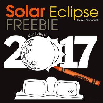 2788 best kindergarten free stuff images on pinterest for Solar eclipse coloring page