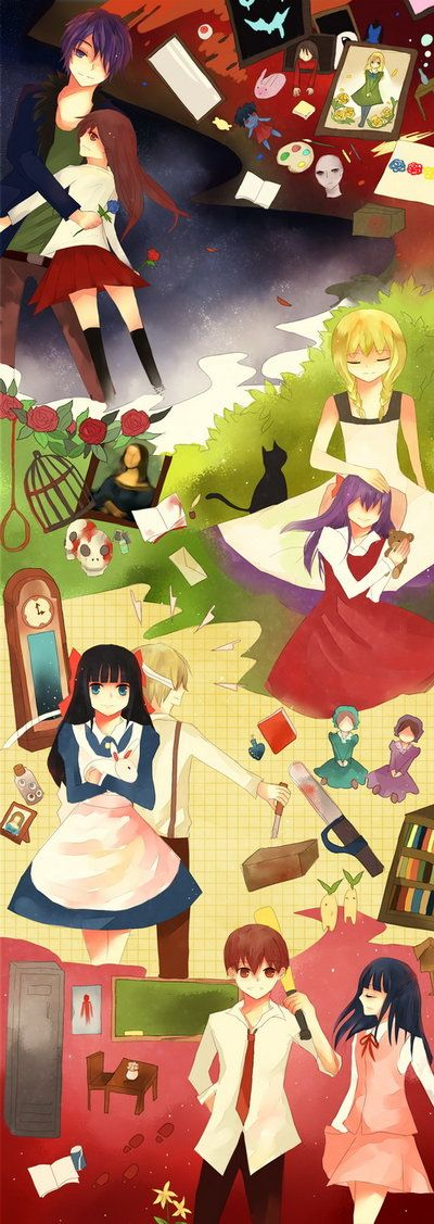 RPG horror games Ib, Mad Father and Misao.....I think? :l