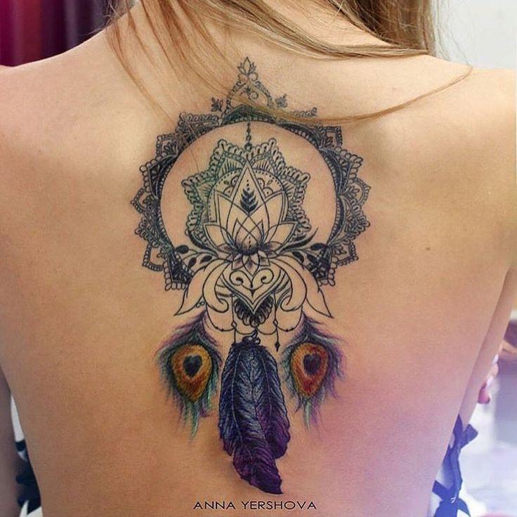 Les 25 meilleures id es de la cat gorie tatouages mandala de fleurs sur pinterest conception - Tatouage mandala dos ...