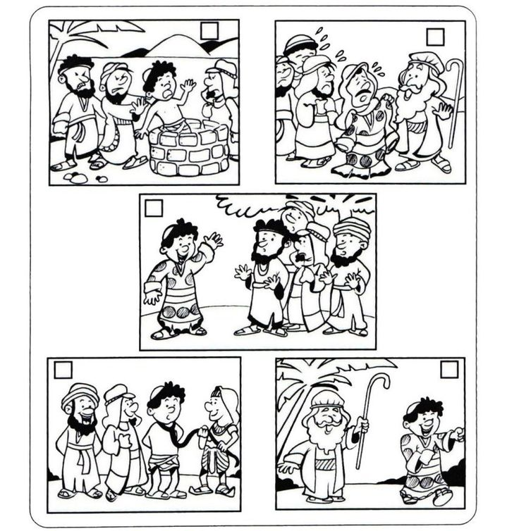 coloring pages joseph in jail - photo#11