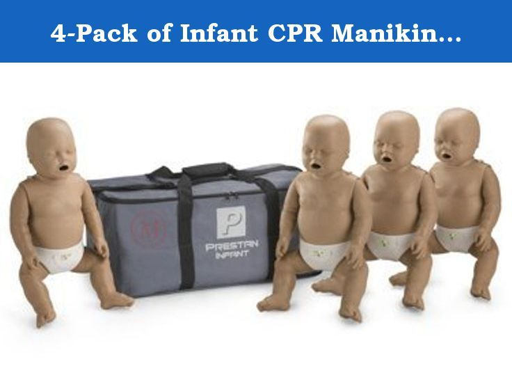 4-Pack of Infant CPR Manikins with Compression Rate Monitors by Prestan, Dark Skin Tone PP-IM-400M-DS. Realistic to the eye and the touch, the Prestan Professional Infant Manikin is unlike any other on the market. Their revolutionary CPR Rate Monitors allow for instant feedback to both instructor and student regarding the rate of chest compression. This allows each student to gauge their rate of compressions on their own as well as allowing the instructor to monitor several students…