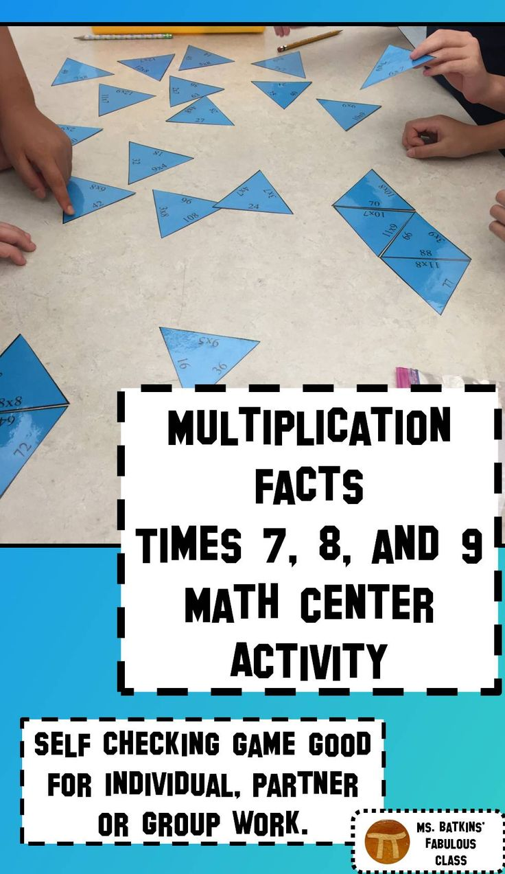 Best 25 times table challenge ideas on pinterest multiplication multiplication math facts puzzle for 7 8 and 9 times tables gamestrikefo Choice Image