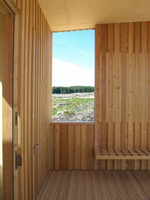 wood cladding- Observatory Charles Barclay Architects http://cbarchitects.co.uk