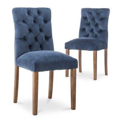 Threshold Brookline Tufted Velvet Dining Chair Set Of 2