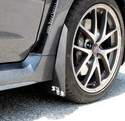 Rally Mud Flaps for the 2015+ Subaru WRX/STI Sedan - Black original flaps with blue or red stickers
