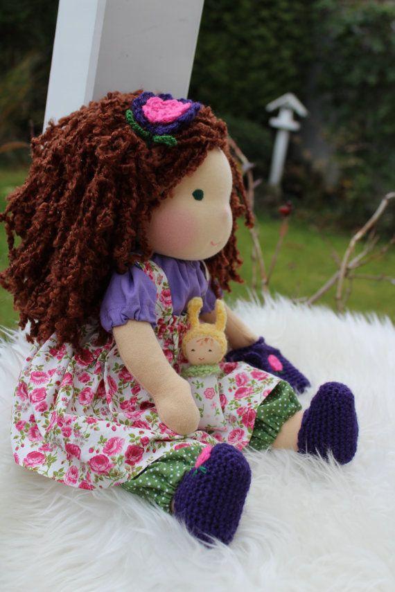 Waldorf doll 165 tall doll waldorf babysteiner doll