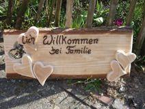 Lich Willkommen Bei Familie Holz Kreativ Holzschilder Geschenke Aus Holz