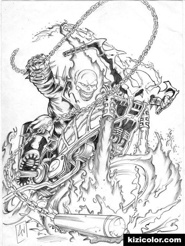 Ghost Leviathan Free Printable Coloring Pages For Girls And Boys In 2020 Ghost Rider Tattoo Ghost Rider Marvel Ghost Rider
