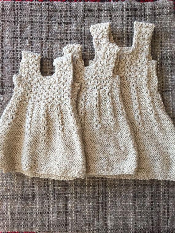 3 Vestidos de Alpaca para bebés, Vestido, Vestido tejido a mano, Vestido Niña, Vestido Bebé,