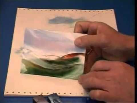 Encaustic Art Lesson 2 - Basic Iron Landscape Cards - YouTube