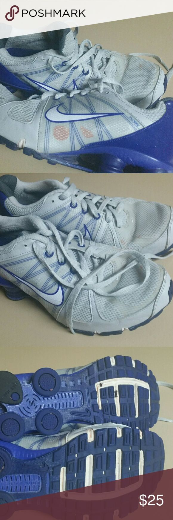 Nike Shocks Barely worn. Has baseball field dirt stain. Nike Shoes Athletic Shoes