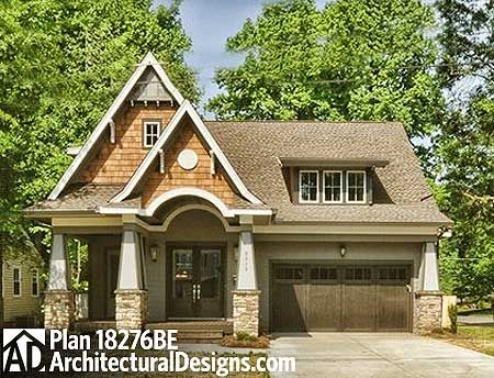 Best 20 craftsman cottage ideas on pinterest craftsman for Award winning narrow lot house plans