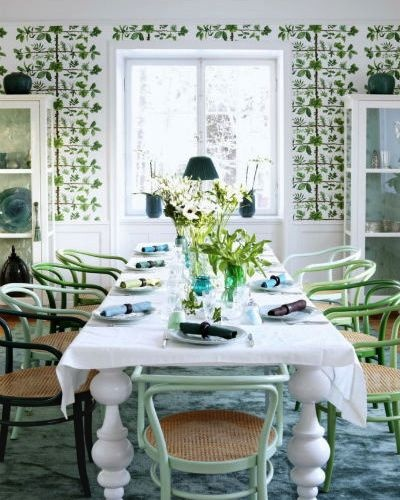 absolutely love this pierre frey espalier wallpaper - would give an nyc apt a country home feel (via the little house in the city)