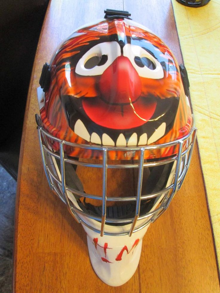 "Goalie mask for a young lady who's nickname is ""Animal""!"