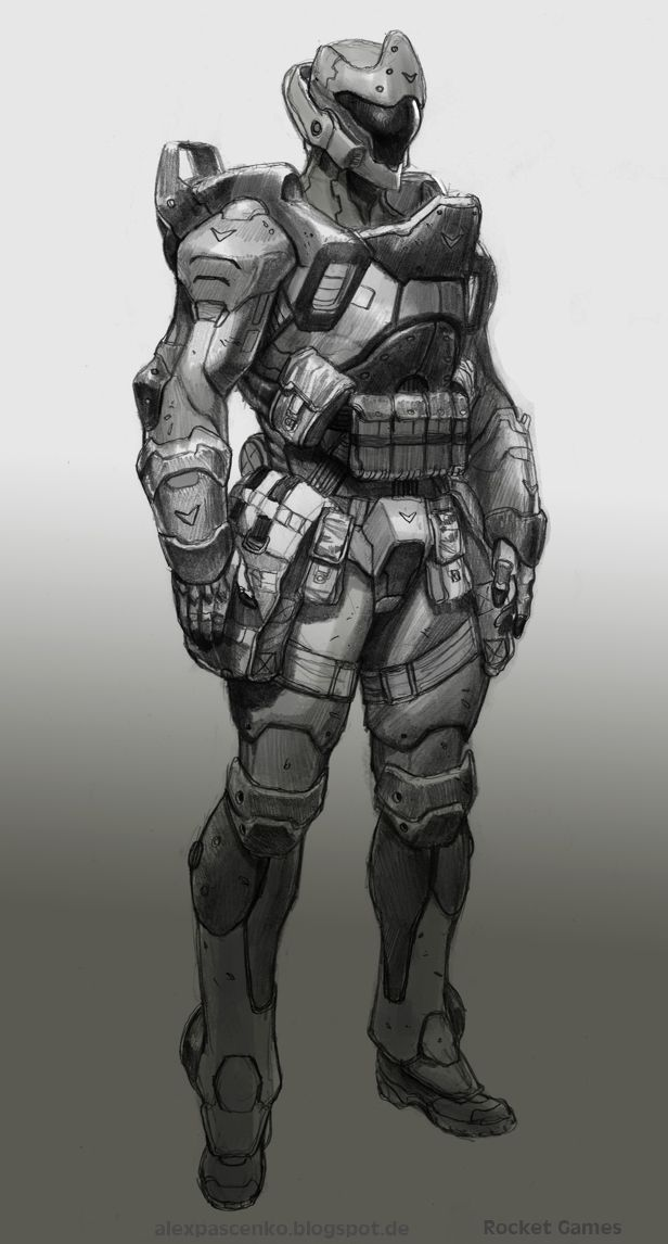 Heavy infantry Manticore by AlexPascenko on deviantART