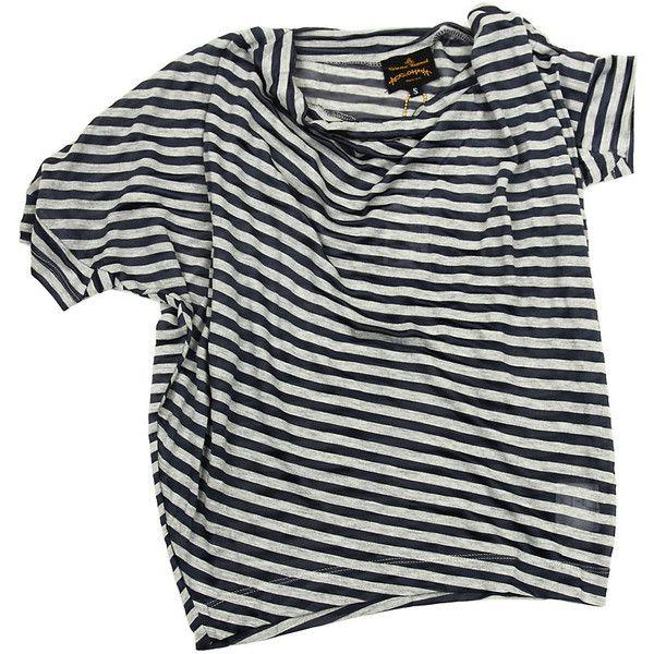 Àñèììåòðè÷íàÿ òðèêîòàæíàÿ ìàéêà ❤ liked on Polyvore featuring tops, t-shirts, shirts, tees, t shirts, shirts & tops, vivienne westwood t shirt, vivienne westwood shirt and vivienne westwood