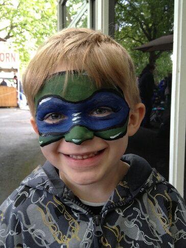Ninja Turtle Face by FacePaintSeattle.com - Face Paint Seattle