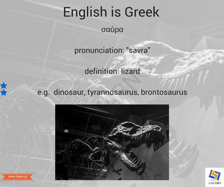 Σαύρα. #English #Greek #language #Αγγλικά #Ελληνικά #γλώσσα #LLEARN