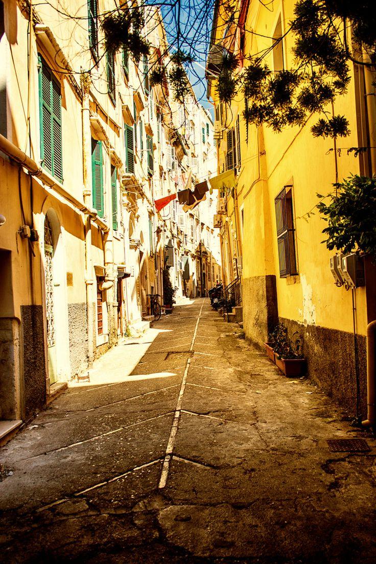 Streets of Kerkyra (Corfu), Greece