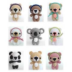 Cutie Bears amigurumi crochet pattern by AmiAmore