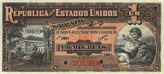 1 Мильрейс (1918) Бразилия (Brazil) Южная Америка