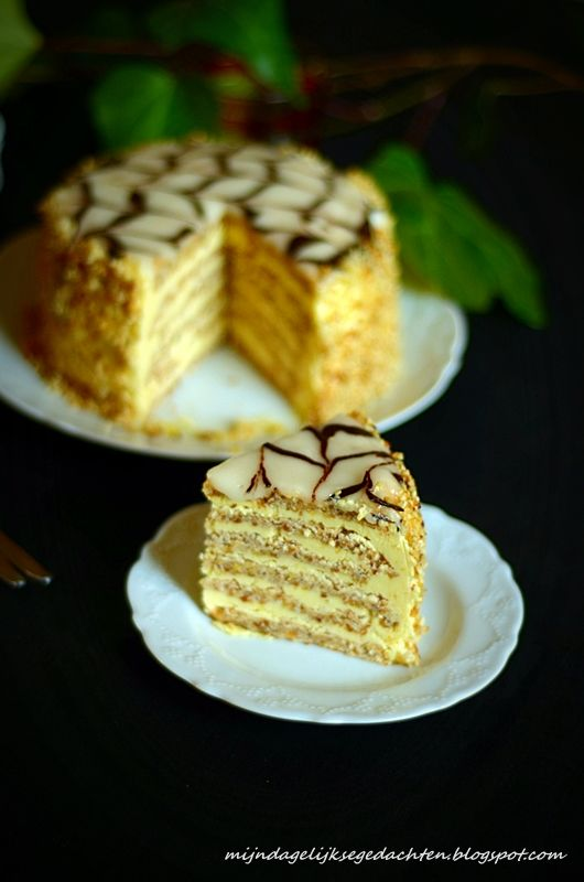 mijn dagelijkse gedachten: Esterhazy Torte / Эстерхази Торт