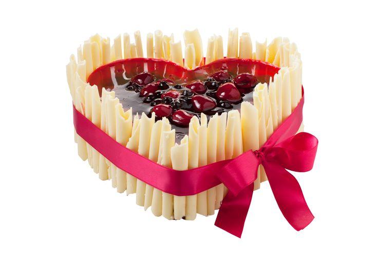 Dortové srdce s čokoládovými ruličkami