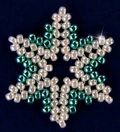 Padrões e Ideias Gratuitas de Bead: Snowflake # 93 Ornament - Free Pattern