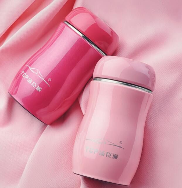 Nice 230ml Mini Candy Color Ladies Children Portable Compact Stainless Steel Thermos Travel Mug w/Lid 5 Colors