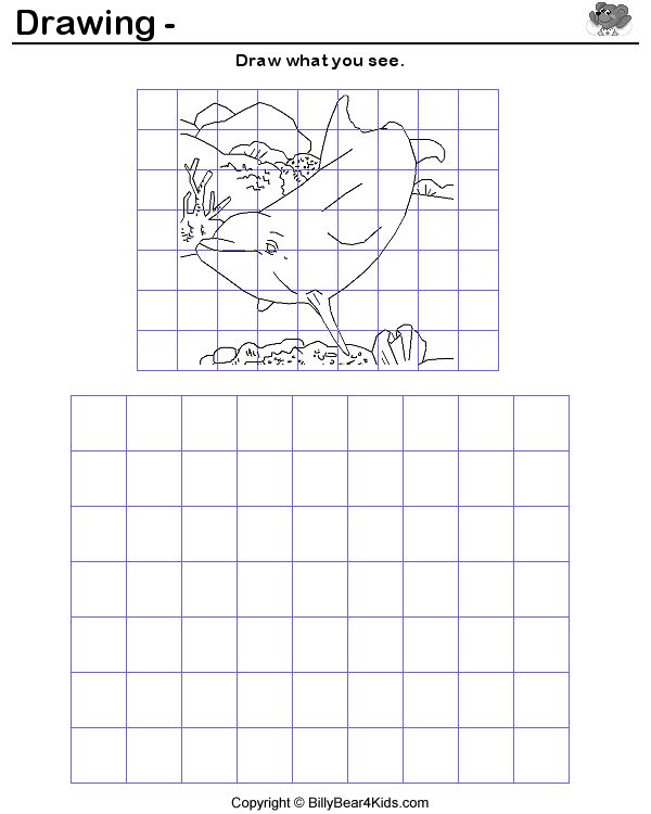 Billy Bear 39 S Learn To Draw Weekly Grid Art For Kids