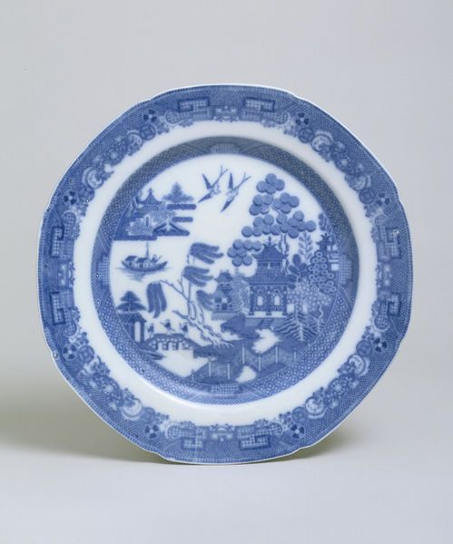 Plate  Place of origin: Stoke-on-Trent, England (made)  Date: 1800-1820 (made)  Artist/Maker: Spode (maker)  Materials and Techniques: Earth...