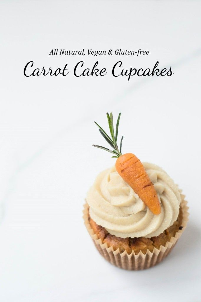 Carrot Cake Cupcakes:  The cake turned out perfectly, not gooey at all.  The frosting was good but would be smoother with a high speed blender  { #vegan  #glutenfree }