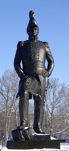 Lieutenant-Colonel John By Statue in Majors Hill Park, Ottawa, Ontario