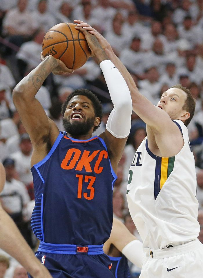 new concept 7b68e 0a99e OKC Thunder falls to Utah Jazz in Game 4 - Photo Gallery ...