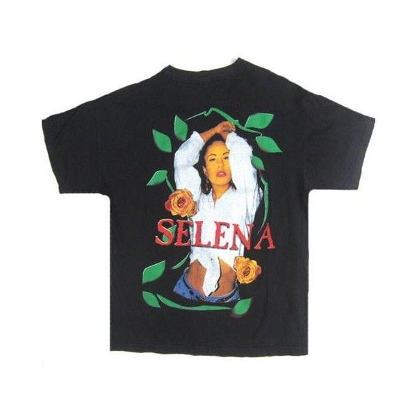 Vintage Selena Quintanilla We Miss You T-Shirt ❤ liked on Polyvore featuring tops, t-shirts, destroyed t shirt, vintage tees, ripped tops, ripped t shirt and distressed top