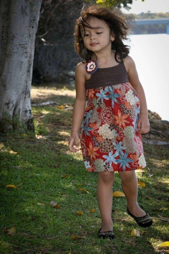 Crochet Dress Pattern Crochet and Fabric Summer by bubnutPatterns