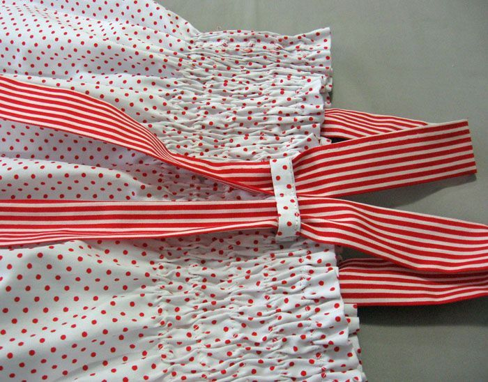 Like this idea for straps! FREE ZigZag Shirring Tutorial & Toddler Dress Pattern. | Felicity Sewing Patterns