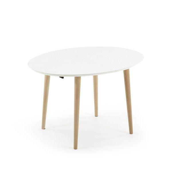 Biały stół rozkładany La Forma Oakland, 120-200 cm