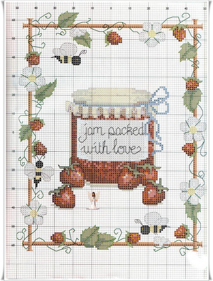 """Lavores da Ana Paula: Cerejinhas e Moranguinhos!!! See """"Strawberry sampler key"""" for thread codes"""
