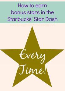 How to Earn the Bonus Starbucks Stars in the Star Dash  http://www.beingfibromom.com/earn-bonus-starbucks-stars/