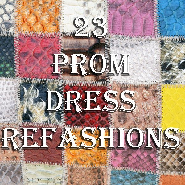 Just found out my blog was linked on this page! Cool! - Pretty in Pink Once Again: 23 Prom Dress Refashions - Crafting a Green World
